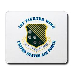 1FW - M01 - 03 - 1st Fighter Wing with Text - Mousepad