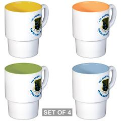 1FW - M01 - 03 - 1st Fighter Wing with Text - Stackable Mug Set (4 mugs)