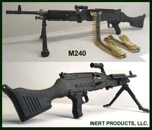 Inert, Replica M-240 Dummy Machine Gun Inert, Replica M240 Heavy Machine Gun